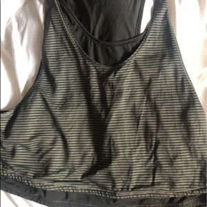 Lululemon Striped Double Layered Crop Tank